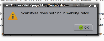 Scanstyles does nothing in Webkit/Firefox